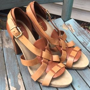 Women's Cole Haan Leather Heeled Sandals 8.5B